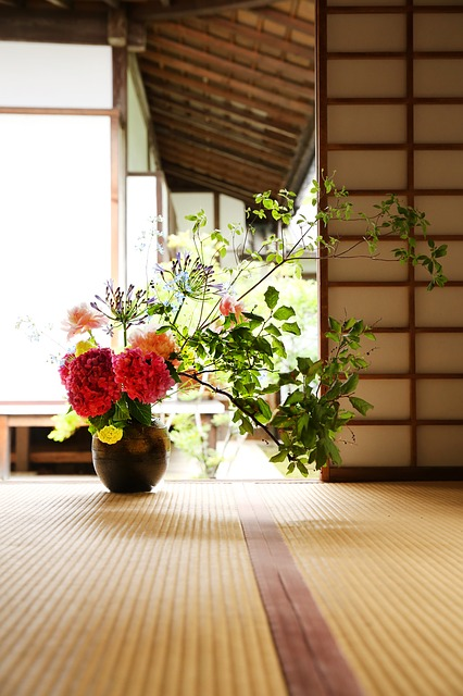 Japan Culture, Buddhist Temple, Flower Arrangement