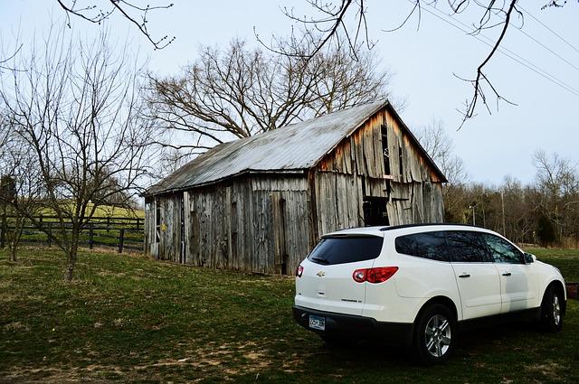 Barn, Kentucky, Car, Wood, Budweiser Ave, Country