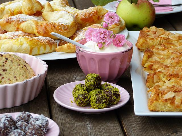 Cake, Buffet, Cookies, Cream, Coffee, Kaffeeklatsch