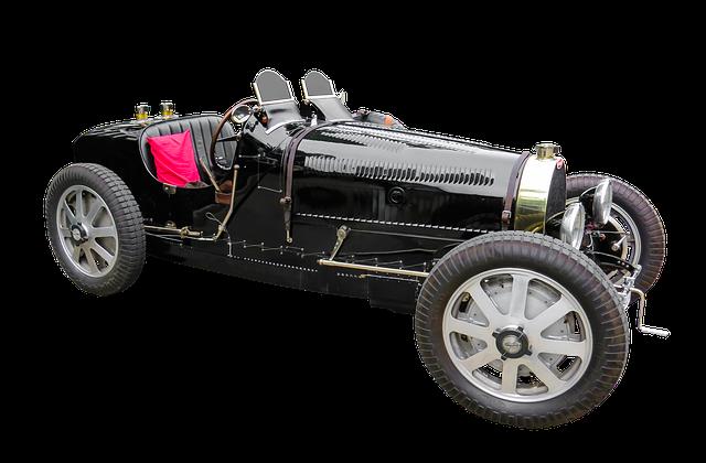 Vehicle, Automotive, Oldtimer, Bugatti, Isolated