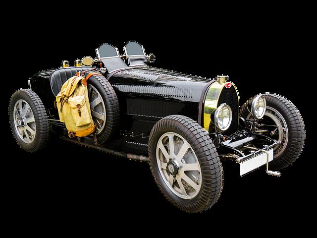Traffic, Oldtimer, Automotive, Bugatti, Isolated