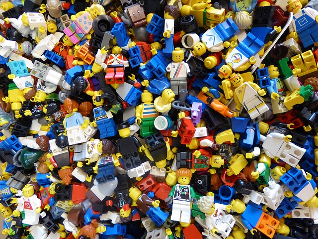 Lego Blocks, Colorful, Build, Piecing Together