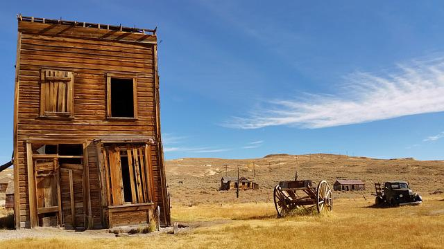 Abandoned, Building, Carriage, Grassland, Landscape