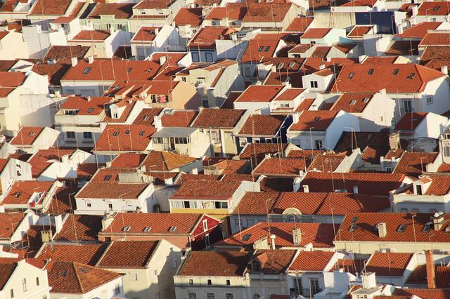 Roof, House, Roofs, Antenna, Building, Place, City
