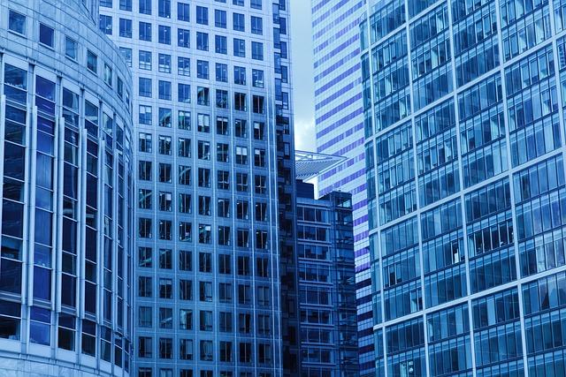 Architecture, Blue, Building, Business, City