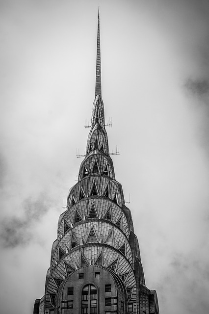 Architecture, Building, Chrysler Building, Clouds