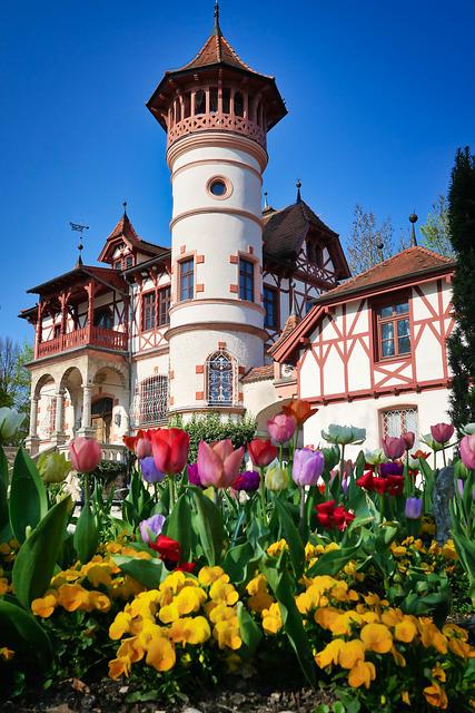 Architecture, Building, Travel, Castle, Flowers, Park