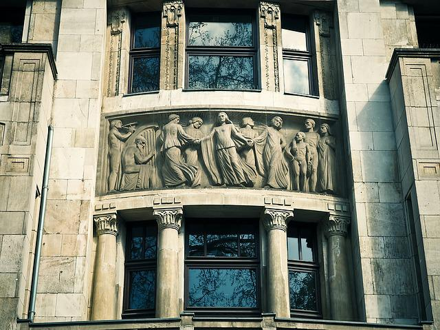 Architecture, Relief, Facade, Historically, Building