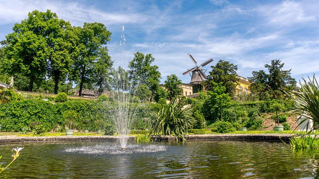 Architecture, Home, Building, Windmill, Schlossgarten