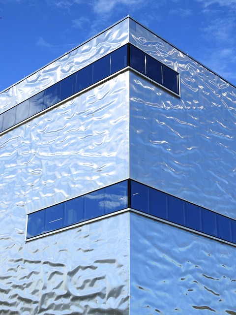 Architecture, Building, Modern, Shiny, Metallic, Facade