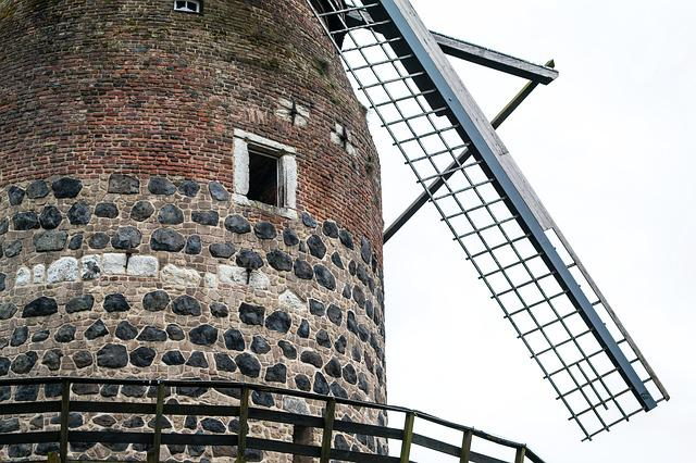 Mill, Windmill, Middle Ages, Architecture, Building