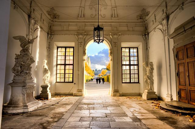 Vienna, Belvedere, Entry, Romantic, Austria, Building