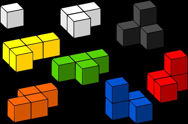 Building Blocks, Tetris, 3d, Blocks, Toys, Cubes, Game