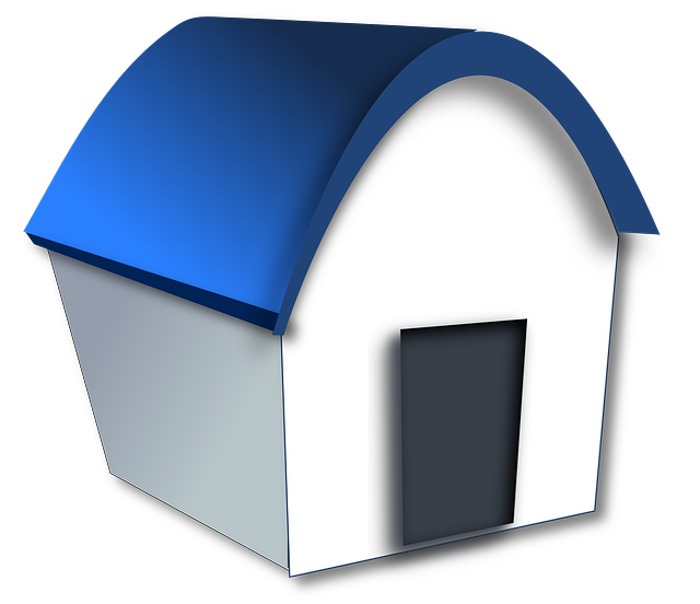 House, Home, Building, Cartoon, Funny, Simple, Blue