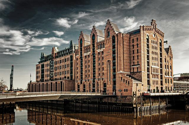 Architecture, City, Building, Travel, Sky, Hamburg