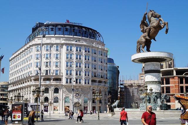 Skopje, Macedonia, City, Building, Architecture