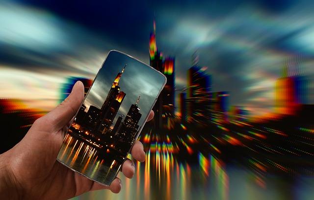 Smartphone, Recording, Image, Cityscape, City, Building
