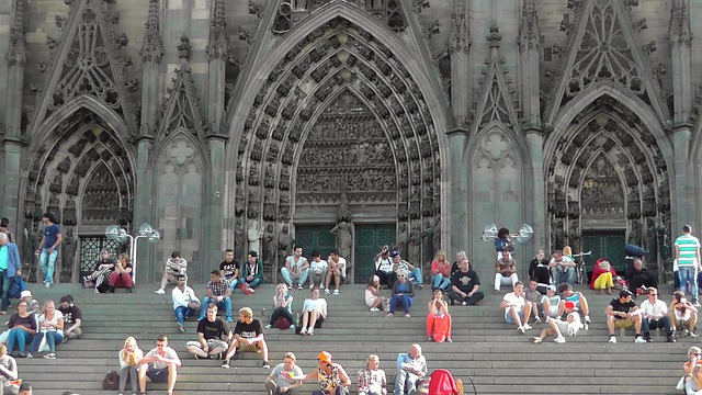 Cologne Cathedral, Stairs, Dom, Human, Building, Church