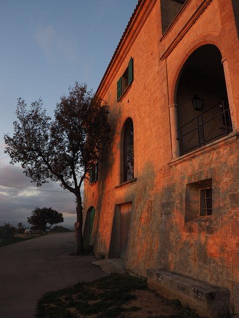 Monastery Cura, Cura, Algaida, Courtyard, Hof, Building