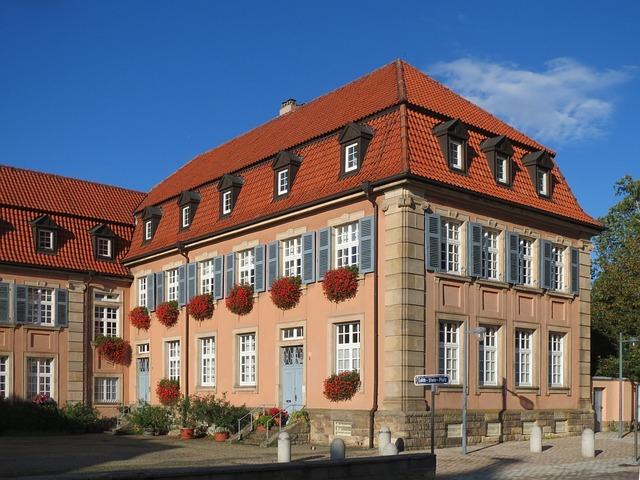 Edith Stein Platz, Speyer, Square, House, Building