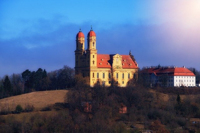 Castle, Monastery, Ellwangen, Germany, Building