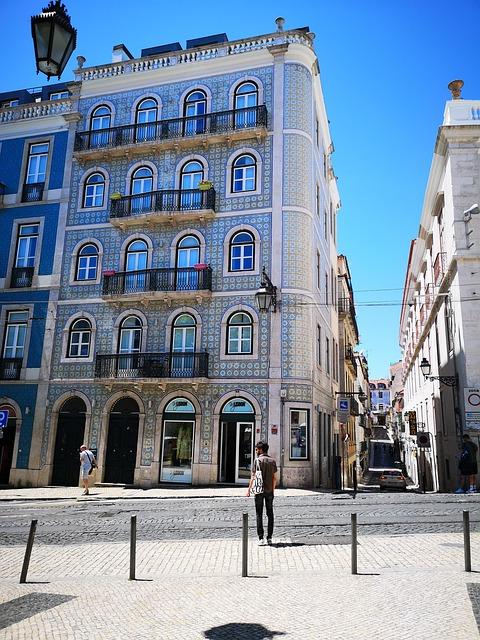 Building, Architecture, House, Azuleos, Facade