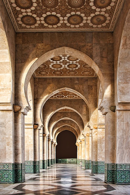 Morocco, Mosque, Architecture, Gallery, Building