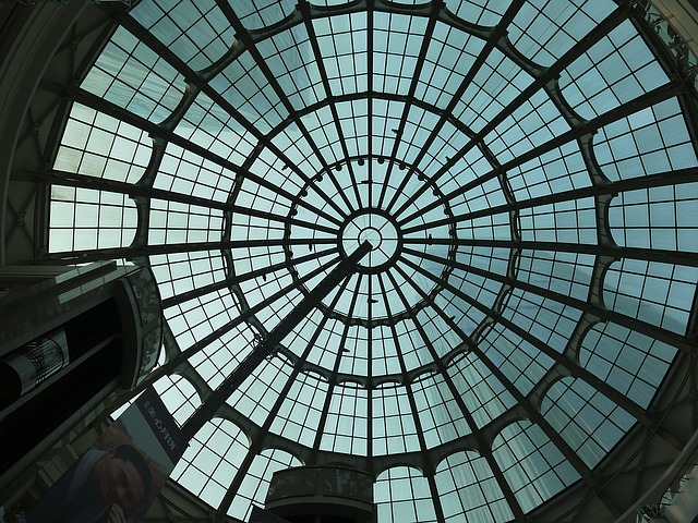 Dome, Shopping Center, Building, Glass Top, Circle