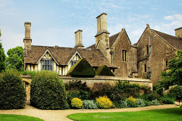 Facade, Great Chalfield, Manor, House, Uk, Building