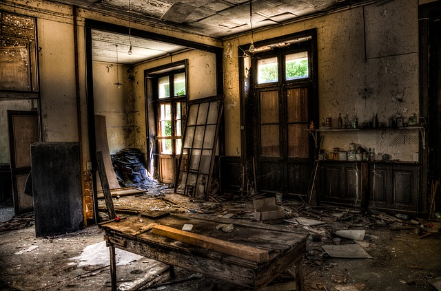 Abandonded, Interior, Hdr, Building, House, Window