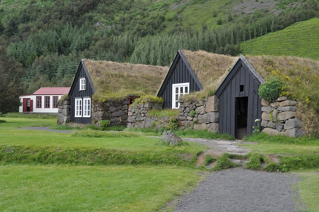 Torfhaus, Grass Roof, Iceland, Hut, Building