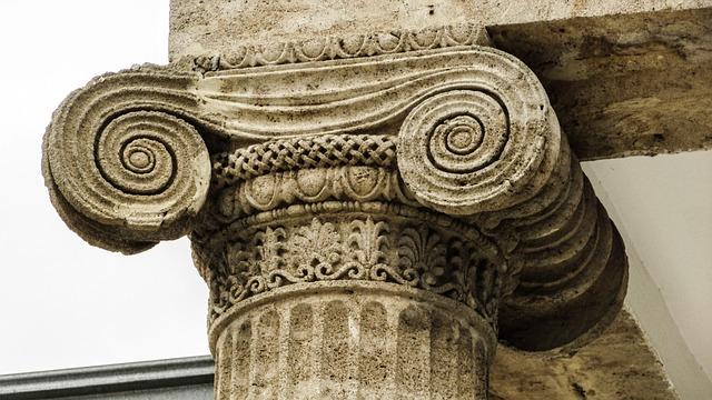 Pillar, Ionic, Architecture, Neoclassic, Building
