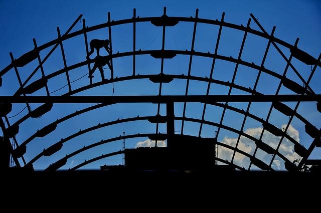Man, Building, Iron, Fur Market Semarang, Semarang