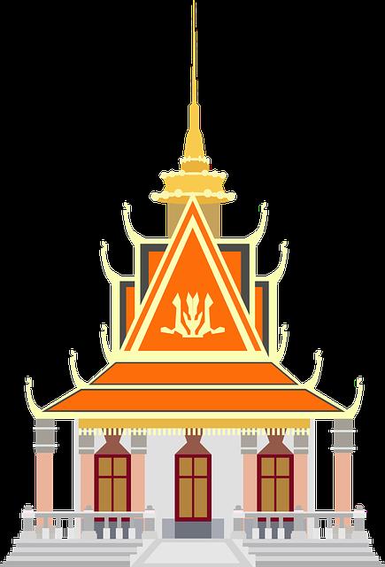 Asia, Building, Cambodia, Landmark, Phnom Penh