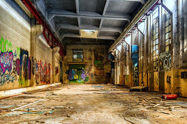 Lost Places, Hall, Factory Building, Building, Industry