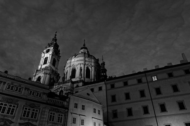 Black, Prague, Art, Sculptures, Monument, Building