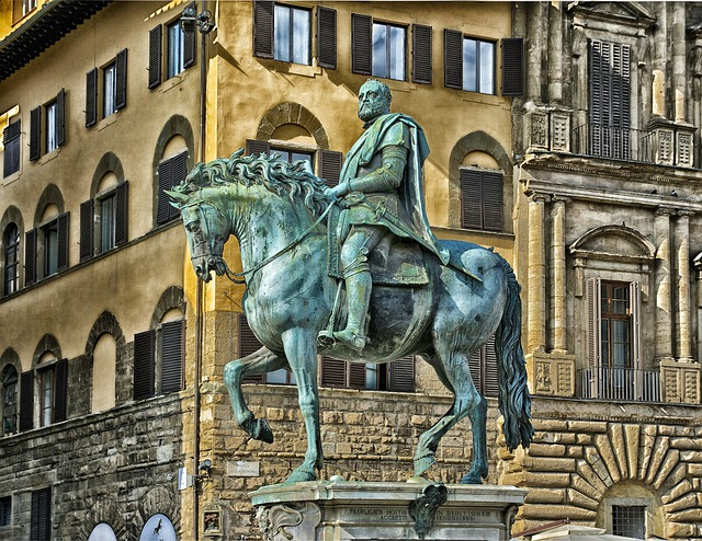 Medici, Plaza, Statue, Monument, Building, Architecture