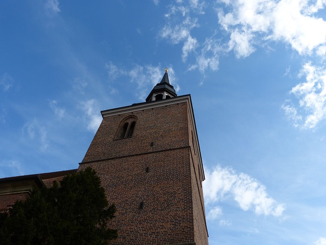 Architecture, Steeple, Nauen Germany, Church, Building