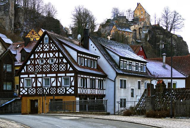 Old Town, Fachwerkhaus, Historically, Castle, Building