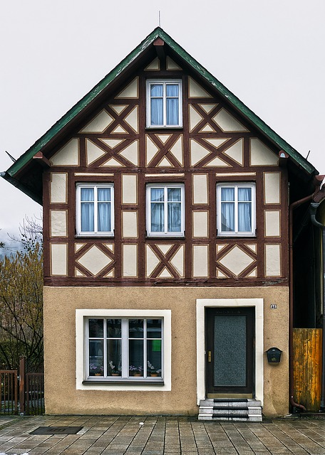 Fachwerkhaus, Facade, Renovated, Old Town, Building