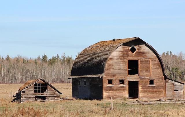 Landscape, Barn, Building, Old, Wooden