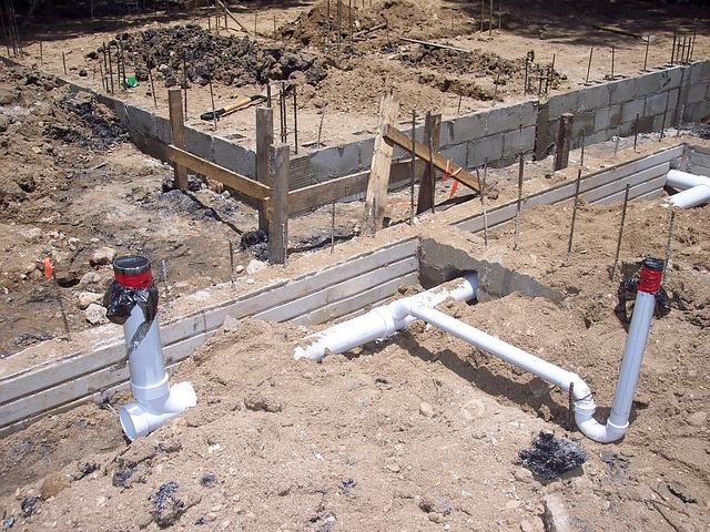 Plumbing, Cement, Foundation, Building, Construction