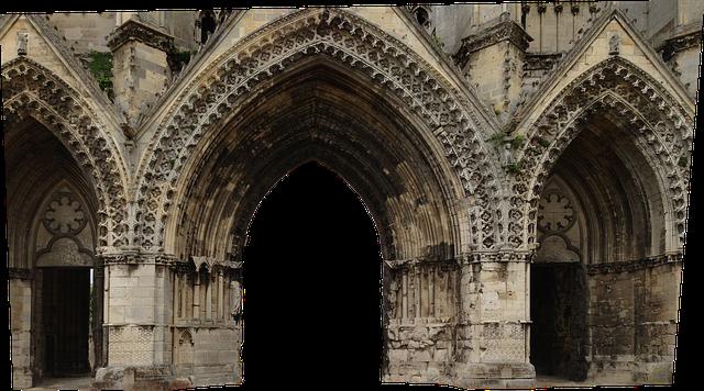 Portal, Gothic, Architecture, Church, Building