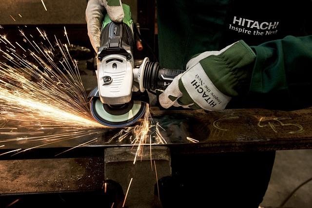 Grinder, Hitachi, Power Tool, Flexible, Grind, Building