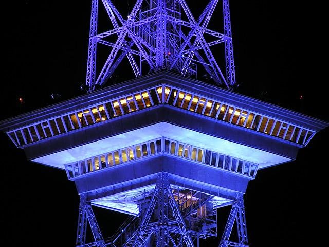 Radio Tower, Berlin, Night, Building, Architecture