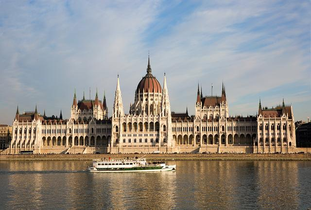 Budapest, Hungary, Parliament, River, Boat, Building