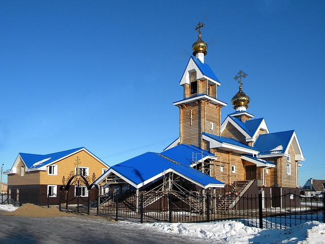 Russia, Church, Building, Spire, Tower