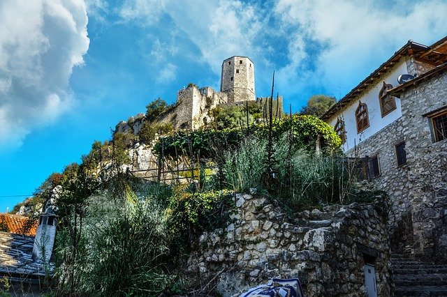 Architecture, Old, Travel, Sky, Building, Bosnia