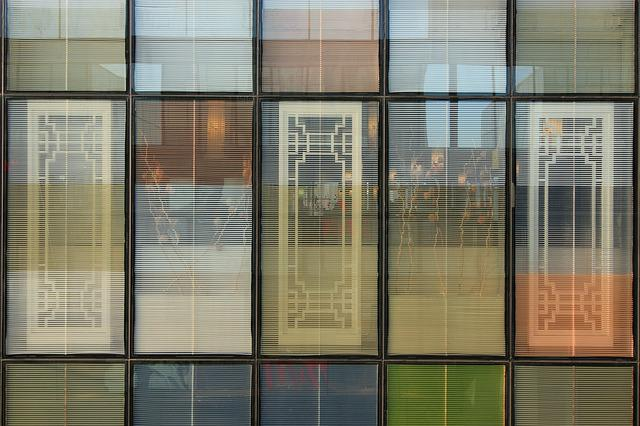 Sanlitun, Building, Glass, Window, Structure, Square