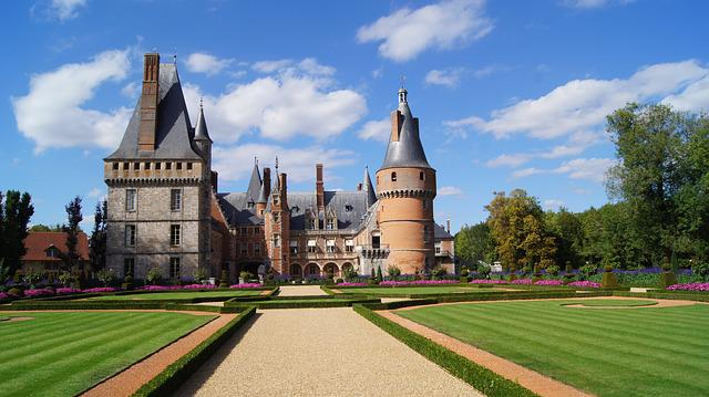 Castle, Castle Park, France, Sun King, Building, Garden